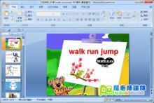 大班英语公开课《walk run jump》PPT课件下载