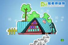 幼儿园小班语言《冬天的小路》FLASH课件下载