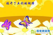 中班音乐课件《蝴蝶找花》FLASH动画课件下载