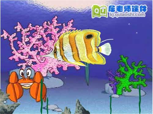 大班美术课件《美丽的海洋鱼》FLASH动画课件