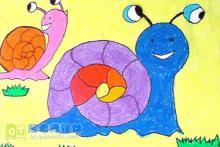 中班美术优质课《美丽的蜗牛》PPT课件