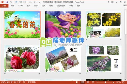 大班科学课件《春天的花》PPT课件教案2