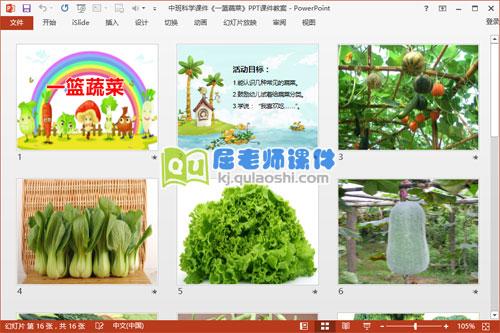 中班科学课件《一篮蔬菜》PPT课件教案2