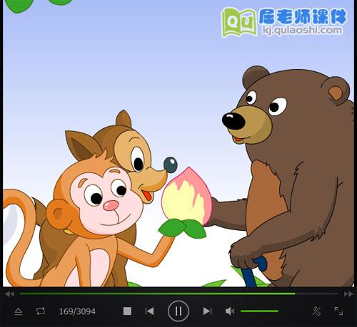 猴子和鹿动画视频