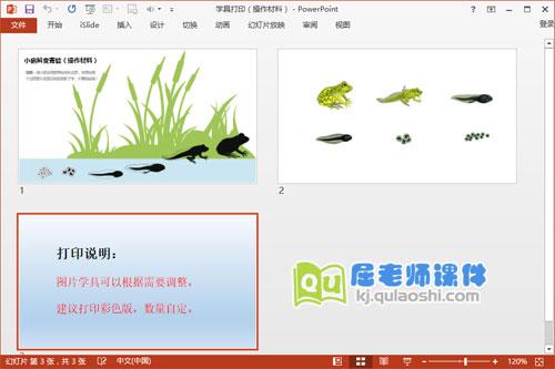 《小蝌蚪变青蛙》学具打印