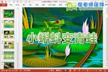 中班科学课件《小蝌蚪变青蛙》PPT课件教案学具视频下载