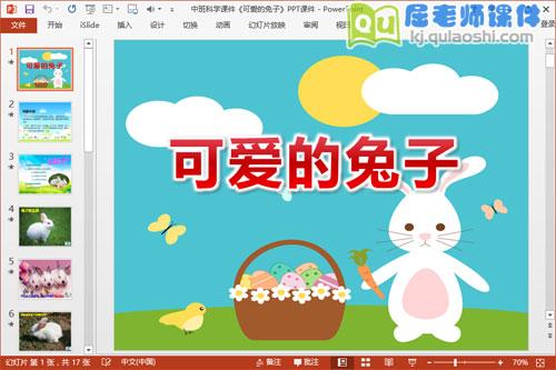 中班科学课件《可爱的兔子》PPT课件